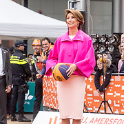 NLD/Amersfoort/20190427 - Koningsdag Amersfoort 2019, Prinses Marylene aan het Basketballen