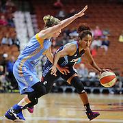 UNCASVILLE, CONNECTICUT- MAY 05:  Carla Cortijo #8 of the Atlanta Dream in action during the Atlanta Dream Vs Chicago Sky preseason WNBA game at Mohegan Sun Arena on May 05, 2016 in Uncasville. (Photo by Tim Clayton/Corbis via Getty Images)