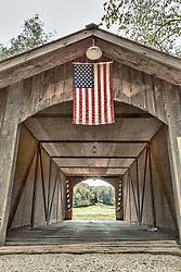 Lost pony truss bridge over a branch of Femme Osage Creek on Becker Joerling Road.