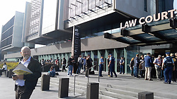 CHRISTCHURCH (NEW ZEALAND), March 16, 2019  Media crews wait in front of a court in Christchurch, New Zealand, on March 16, 2019. A 28-year-old man was due to appear in a court in Christchurch on Saturday morning, in connection with the mass shootings in the New Zealand city on Friday. (Credit Image: © Li Huizi/Xinhua via ZUMA Wire)