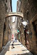 Street scene Volterra Tuscany Italy