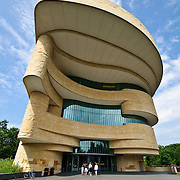 External shot of the outside of the building of the Smithsonian National Museum of the American Indian