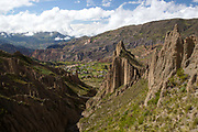 Valley de las Animals - valley of the animals, unusual rock formations that look like a moon landscape on the outskirts of La Paz, capital of Bolivia