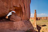 Sandstone tower, Arches National Park Utah USA