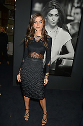 ELISA SEDNAOUI at an evenig of Jewellery & Photography to launch the Buccellati 'Opera Collection' held at Spencer House, London on 21st October 2015.