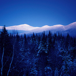 Mt. Washington. Appalachian Trail Dusk falls on Mt. Washington and the southern Presidential Range.  Twin Mountain, NH