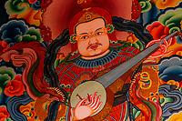 Buddhist art, Hemis Monastery, Ladakh, Jammu and Kashmir State, India.