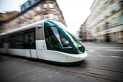 Pics of trams on the Strasbourg tramway.