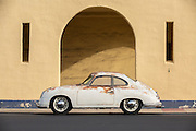 stunning-car-photos-and-prints-online, Image of a rusty old 1952 pre-A 356 Porsche in southern California, America west coast by Randy Wells