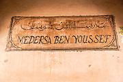 The medieval Medersa Ben Youssef Koranic School in the old Medina, Marrakesh, Morocco, North Africa.