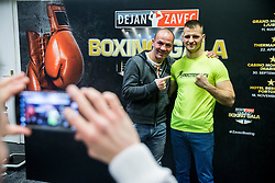 Dejan Zavec and Andrej Bakovic of Slovenia during Official weighting ceremony one day before Dejan Zavec Boxing Gala event in Ljubljana, on March 10, 2017 in Grand Hotel Union, Ljubljana, Slovenia. Photo by Vid Ponikvar / Sportida