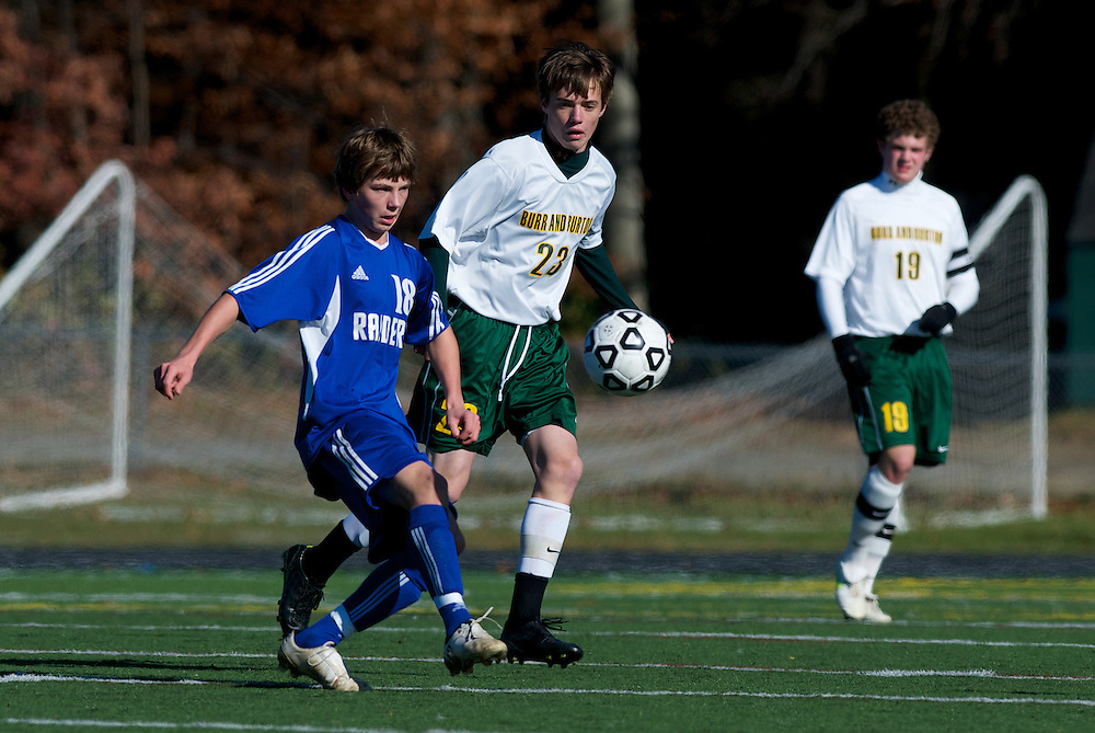 The Vermont State DII Boys Soccer Championship game between Burr and Burton and U-32 at South Burlington high school on November 5, 2011 in South Burlington, Vermont.