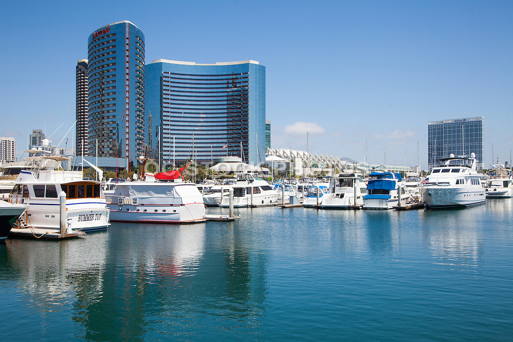 Marriott Marquis and Embarcadero Marina Park in San Diego