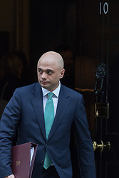 Downing Street, London, February 23rd 2016. Business Secretary Sajid Javid leaves the weekly cabinet meeting.  ©Paul Davey<br /> FOR LICENCING CONTACT: Paul Davey +44 (0) 7966 016 296 paul@pauldaveycreative.co.uk