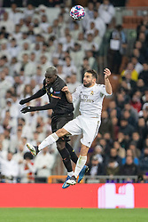 Real Madrid's and Manchester City's during the UEFA Champions League round of 16 first leg match Real Madrid v Manchester City at Santiago Bernabeu stadium on February 26, 2020 in Madrid, Sdpain. Real was defeated 1-2. Photo by David Jar/AlterPhotos/ABACAPRESS.COM