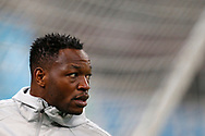 Olympique de Marseille's French goalkeeper Steve Mandanda warms up before the French Championship Ligue 1 football match between Olympique de Marseille and AS Monaco on January 28, 2018 at the Orange Velodrome stadium in Marseille, France - Photo Benjamin Cremel / ProSportsImages / DPPI