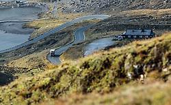 THEMENBILD - ein LKW fährt auf der Strasse. Die Grossglockner Hochalpenstrasse verbindet die beiden Bundeslaender Salzburg und Kaernten mit einer Laenge von 48 Kilometer und ist als Erlebnisstrasse vorrangig von touristischer Bedeutung, aufgenommen am 15. September 2016, Bruck a. d. Glocknerstrasse, Oesterreich // a truck driving on the road. The Grossglockner High Alpine Road connects the two provinces of Salzburg and Carinthia with a length of 48 km and is as an adventure road priority of tourist interest at Bruck a. d. Glocknerstrasse, Austria on 2016/09/15. EXPA Pictures © 2016, PhotoCredit: EXPA/ JFK