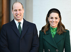 The Duke and Duchess of Cambridge meet the Taoiseach of Ireland, Leo Varadkar, at the Government Buildings, on the first day of their 3 day visit to Ireland, in Dublin, Ireland, on the 3rd March 2020. 03 Mar 2020 Pictured: Prince William, Duke of Cambridge, Catherine, Duchess of Cambridge, Kate Middleton. Photo credit: James Whatling / MEGA TheMegaAgency.com +1 888 505 6342