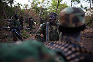 A squad of 32 UPDF soldiers march through the bush in the Central Africa Republic searching for any trace of the LRA. The soliders routinely call in their GPS coordinates, and map out any evidence of LRA precence. It is a grinding slow hunt across a massive area, but the UPDF says it is effective in the long term. Although the UPDF has been chasing Kony for decades, renewed international interest and increased funding from the US have brought the most pressure on Joseph Kony in decades.