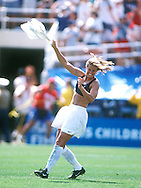 Brandi Chastain celebrates her winning penalty kick against China in the WWC 1999.