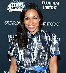 Actress Rosario Dawson attends the Harper's Bazaar Icons by Carine Roitfeld celebration at The Plaza Hotel in New York, NY on September 8, 2017.  (Photo by Stephen Smith/SIPA USA)