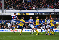 Football - 2018 / 2019 FA Cup - Third Round: Queens Park Rangers vs. Leeds United<br /> <br /> Queens Park Rangers' Jake Bidwell scores his side's second goal, at Loftus Road.<br /> <br /> COLORSPORT/ASHLEY WESTERN