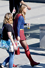 Melissa Benoist and Chyler Leigh film Supergirl action scenes - 5 Sep 2018