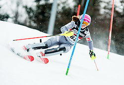 """Josephine Forni (FRA) competes during 1st Run of FIS Alpine Ski World Cup 2017/18 Ladies' Slalom race named """"Snow Queen Trophy 2018"""", on January 3, 2018 in Course Crveni Spust at Sljeme hill, Zagreb, Croatia. Photo by Vid Ponikvar / Sportida"""