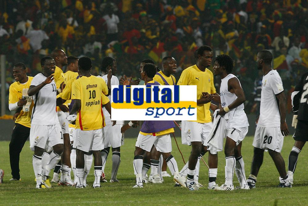 Photo: Steve Bond/Richard Lane Photography.<br />Ghana v Guinea. Africa Cup of Nations. 20/01/2008. Ghana celebrate the late win