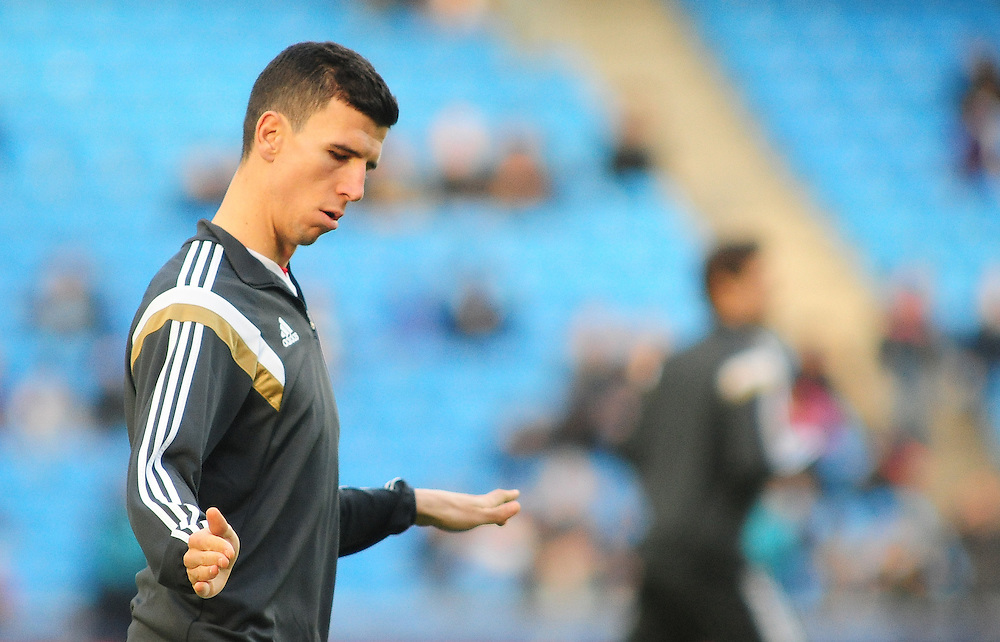 Middlesbrough's Daniel Ayala during the pre-match warm-up <br /> <br /> Photographer Chris Vaughan/CameraSport<br /> <br /> Football - The FA Cup Fourth Round - Manchester City v Middlesbrough - Saturday 24th January 2015 - Etihad Stadium - Manchester<br /> <br /> © CameraSport - 43 Linden Ave. Countesthorpe. Leicester. England. LE8 5PG - Tel: +44 (0) 116 277 4147 - admin@camerasport.com - www.camerasport.com