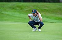 HILVERSUM - Jerry Ji (Neth) wint zijn partij na 19 holes., tegen Oostenrijk.    ELTK Golf 2020 The Dutch Golf Federation (NGF), The European Golf Federation (EGA) and the Hilversumsche Golf Club will organize Team European Championships for men.  COPYRIGHT KOEN SUYK