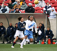 Frankie Hejduk (2), of the United States, and Guillermo Ramirez (11), of Guatemala, fight for position on the ball on Sunday, February 19th, 2005 at Pizza Hut Park in Frisco, Texas. The United States Men's National Team defeated Guatemala 4-0 in a men's international friendly.