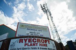 The Spotland Stadium  - Photo mandatory by-line: Dougie Allward/JMP - Mobile: 07966 386802 23/08/2014 - SPORT - FOOTBALL - Manchester - Spotland Stadium - Rochdale AFC v Bristol City - Sky Bet League One