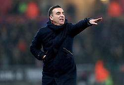 Swansea City manager Carlos Carvalhal gestures on the touchline