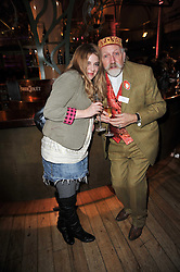 Writers HANA FOX and ROBERT RANKIN at the annual Orion Publishing Group's Author party held in the Paul Hamlyn Hall, The Royal Opera House, Covent Garden, London on 15th February 2011.