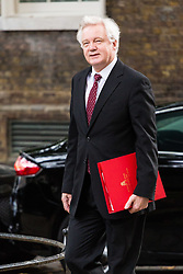 London, September 5th 2017. Secretary of State for Exiting the European Union David Davis attends the first UK cabinet meeting at Downing Street after the summer recess. ©Paul Davey
