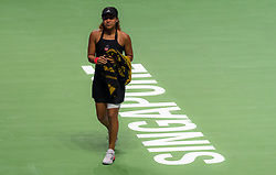 October 26, 2018 - Kallang, SINGAPORE - Naomi Osaka of Japan walks off the court after being forced to retire due to injury at the 2018 WTA Finals tennis tournament (Credit Image: © AFP7 via ZUMA Wire)
