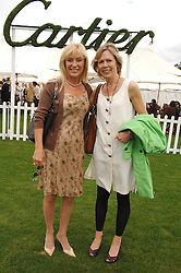 Left to right, ANGIE BEST former wife of the late footballer George Best and mother of Callum Best and JULIET HERD at the Cartier International polo at Guards Polo Club, Windsor Great Park on 29th July 2007.<br /><br />NON EXCLUSIVE - WORLD RIGHTS