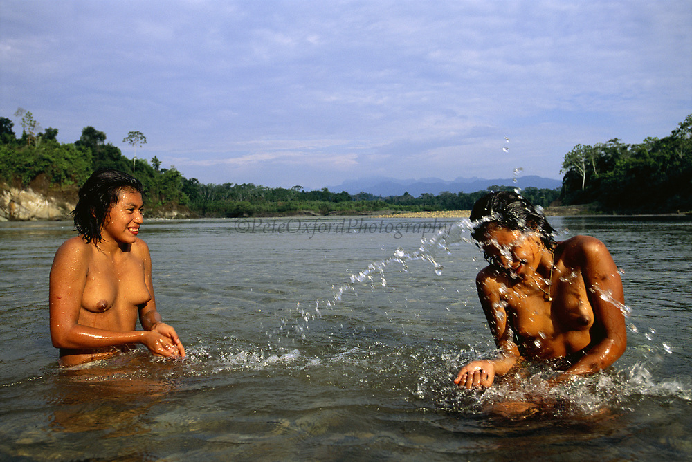 Machiguenga Indians Bathing<br />