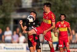 (L-R) Luigi Bruins of Excelsior, Jeff Stans of Go Ahead Eagles during the Friendly match between Go Ahead Eagles and Excelsior Rotterdam at sportcomplex SV Terwolde on July 20, 2018 in Terwolde, The Netherlands