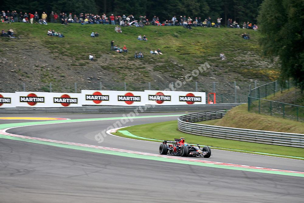 Sebastien Bourdais (Toro Rosso-Ferrari) in Pouhon at the 2008 Belgian Grand Prix at Spa-Francorchamps. Photo: Grand Prix Photo
