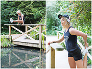 Team GB freestyle snowboarder and Olympian Aimee Fuller in Holland Park, London