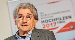 "02.11.2016, Biathlonarena, Hochilzen, AUT, IBU Weltmeisterschaft Biathlon, Hochfilzen, Pressekonferenz 100 Tage, im Bild Dr. Klaus Leistner (Generalsekretär ÖSV und Vizepräsident IBU) // during a Pressconference ""100 Days"" in front of the IBU Biathlon World Championships 2017 at the Biathlonarena, Hochfilzen, Austria on 2016/11/02. EXPA Pictures © 2016, PhotoCredit: EXPA/ JFK"