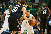 WACO, TX - DECEMBER 9: Lester Medford #11 of the Baylor Bears defends against Alex Caruso #21 of the Texas A&M Aggies on December 9, 2014 at the Ferrell Center in Waco, Texas.  (Photo by Cooper Neill/Getty Images) *** Local Caption *** Lester Medford