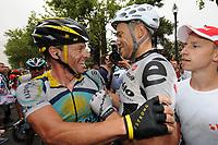 Sykkel<br /> Tour de France<br /> Foto: DPPI/Digitalsport<br /> NORWAY ONLY<br /> <br /> CYCLING - TOUR DE FRANCE 2009 - BARCELONA (ESP) - 09/07/2009 <br /> <br /> STAGE 6 - GERONE > BARCELONA - LANCE ARMSTRONG (USA) / ASTANA - THOR HUSHOVD (NOR) / CERVELO TEST TEAM / WINNER