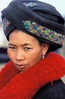 Laos, Muang Sing, Ethnie Mien ou Yao // Portrait of Yao minority woman, North, Lao People's Democratic Republic
