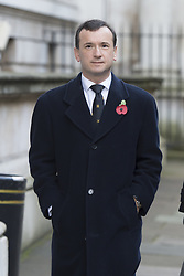 Secretary of State for Wales Alun Cairns makes his way through Downing Street on his way to the annual Remembrance Sunday Service at the Cenotaph memorial in Whitehall, central London, held in tribute for members of the armed forces who have died in major conflicts.