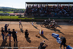 The start of the hand shift class Spirit of Sturgis races at the fairgrounds during the Sturgis Black Hills Motorcycle Rally. Sturgis, SD, USA. Monday, August 5, 2019. Photography ©2019 Michael Lichter.
