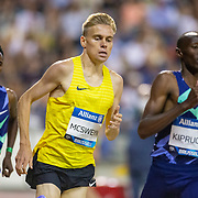 BRUSSELS, BELGIUM:  September 3:   Stewart McSweyn of Australia in action during his victory in the 1500m for men during the Wanda Diamond League 2021 Memorial Van Damme Athletics competition at King Baudouin Stadium on September 3, 2021 in  Brussels, Belgium. (Photo by Tim Clayton/Corbis via Getty Images)