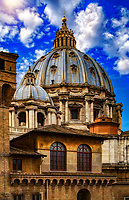 """Dome of the Basilica of St. Peter seen from the window of the Vatican Museum""..."